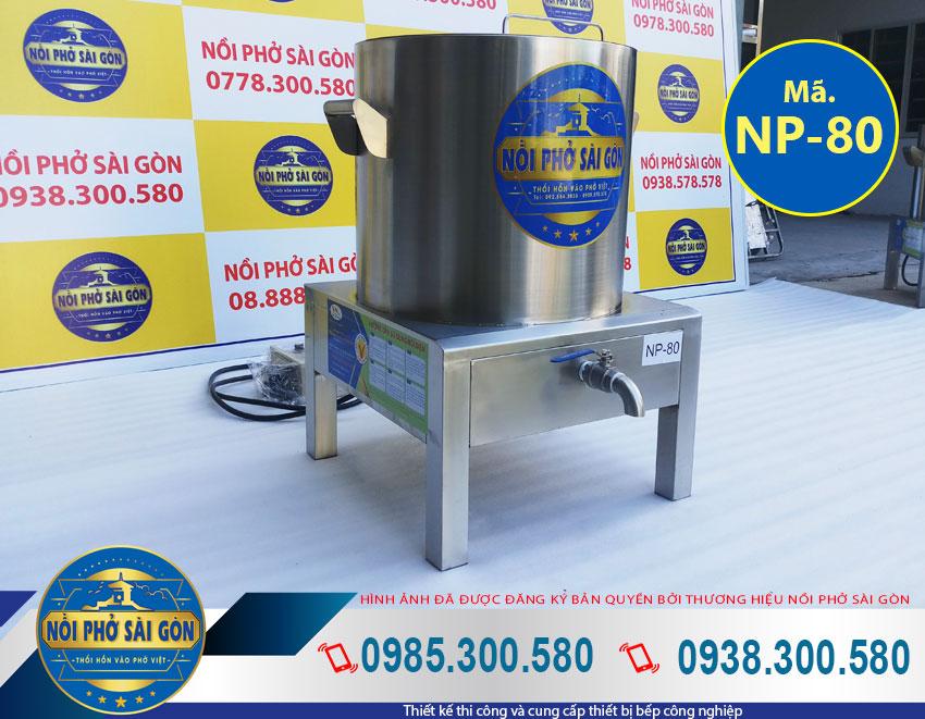 Địa chỉ mua nồi nấu nước phở bằng điện sản phẩm nồi nấu phở điện 80 lít tại xưởng mang thương hiệu Nồi Phở Sài Gòn.