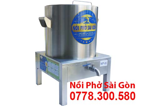 Nồi phở inox sử dụng điện loại 80 lít được sử dụng nhiều tại các mô hình kinh doanh.