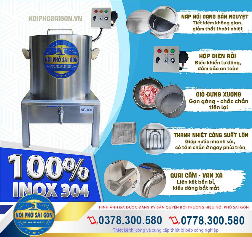 Sử dụng nồi nấu phở bằng điện, nồi điện nấu phở mua tại Thương Hiệu Nồi Phở Sài Gòn TP HCM giúp bạn cải thiện năng suất khi nấu phở.