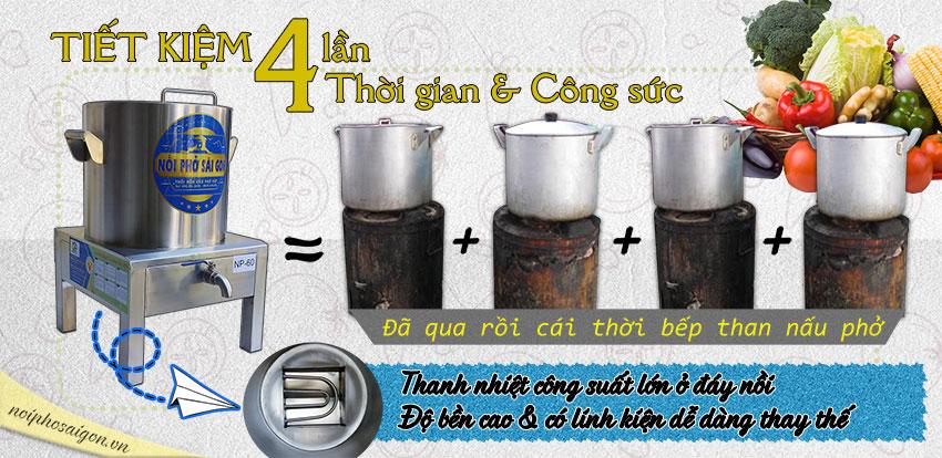 Nồi nấu phở bằng điện, nồi inox nấu phở bằng điện, nồi điện nấu phở có tính năng ưu Việt so với các loại nồi than, nhôm thông thường.