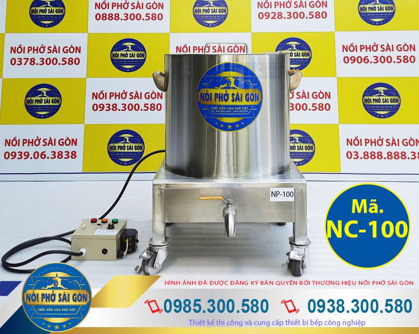 Báo giá nồi nấu cháo công nghiệp 100 lít, nồi inox nấu cháo bằng điện.