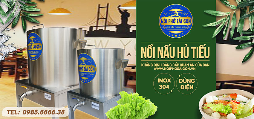 Địa chỉ bán nồi nấu hủ tiếu bằng điện, nồi điện inox nấu hủ tiếu uy tín tại TP HCM.