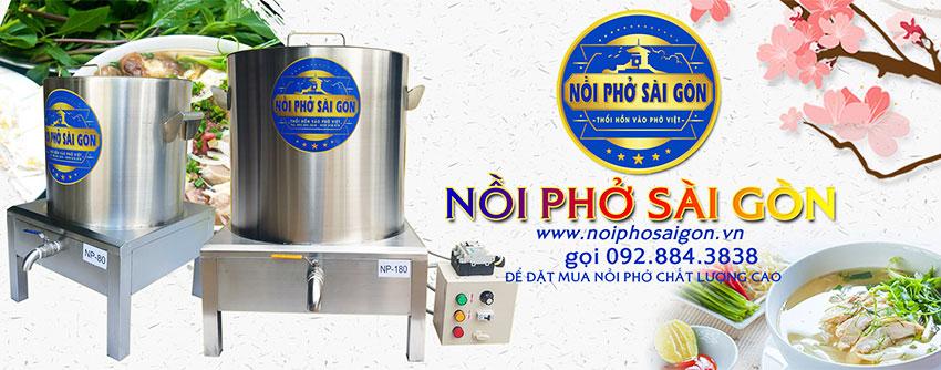 Địa chỉ mua nồi nấu phở bằng điện chính hãng thương hiệu Nồi Phở Sài Gòn.