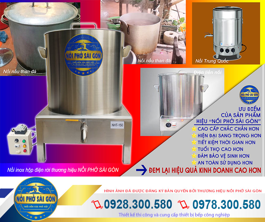Giá bán nồi nấu hủ tiếu bằng điện, nồi nấu hủ tiếu công nghiệp là sản phẩm nồi nấu hủ tiếu inox sử dụng điện.