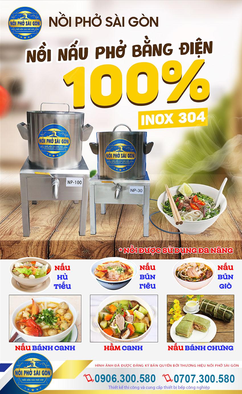 Nồi điện nấu phở, nồi nấu phở bằng điện, nồi nấu phở điện uy tín chất lượng mang thương hiệu Nồi Phở Sài Gòn.