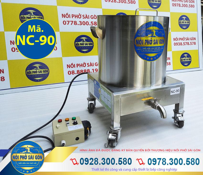 Nồi inox nấu cháo 90 lít bằng điện, nồi nấu cháo công nghiệp sử dụng điện.
