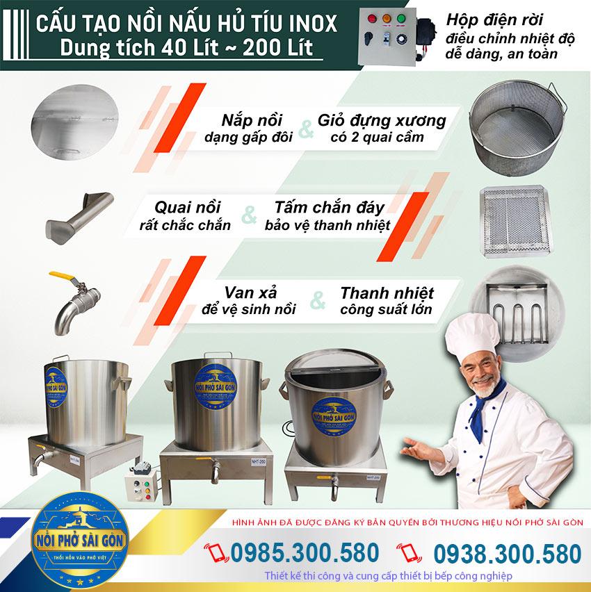 Nồi nấu hủ tiếu điện, nồi nấu hủ tiếu bằng điện, nồi nấu hủ tiếu inox 304 chất lượng giá gốc.