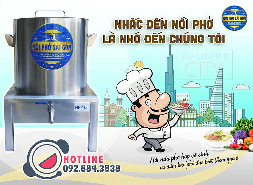 Nồi nấu phở bằng điện chính hãng thương hiệu Nồi Phở Sài Gòn.