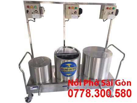 Bộ nồi nấu phở bằng điện 20 lít 50 lít và 70 lít.