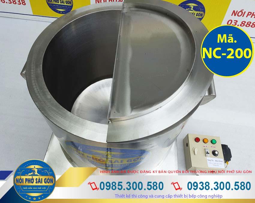 Địa chỉ mua nồi nấu cháo inox 200 lít, nồi nấu cháo công nghiệp, nồi nấu cháo bằng điện thương hiệu Nồi Phở Sài Gòn Uy Tín.