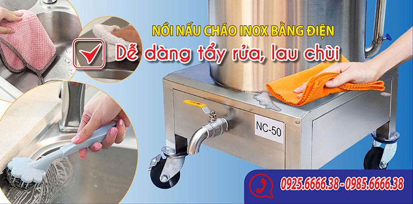 Nồi nấu cháo bằng điện giá tốt dễ dàng vệ sinh và sử dụng.